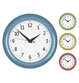 Set of wall mechanical clocks vector image vector image