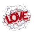 Love - comic speech bubble vector image