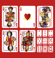 Heart Suit Playing Cards Full Set vector image