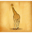 giraffe on the old paper vector image vector image