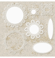 lacy scrapbooking napkin designs vector image