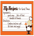 Good Time Recipe vector image