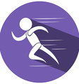 Sport icon for running vector image