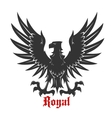 Black eagle attacking a prey heraldic icon vector image