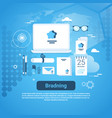 branding idea marketing technology concept web vector image