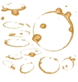 Coffee Stain Set Isolated On White vector image
