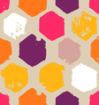 hand drawn hexagon pattern vector image