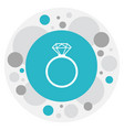 of kin symbol on ring icon vector image