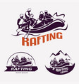 set of rafting templates for labels emblems vector image