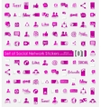 Set of social network stickers vector image