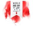 world aids day december 1 emblem vector image