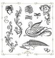 calligraphy  design elements vector image vector image