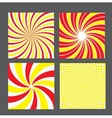 retro vintage hypnotic background set vector image vector image
