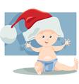 baby boy santa cartoon vector image