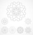 Set of geometric outline rosetta ornamet vector image vector image