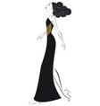 woman in black vector image