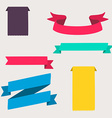 Colorful and decorated paper banners vector image