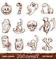 hand drawn halloween vector image