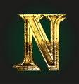 n golden letter vector image vector image