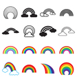 Rainbow icons vector image