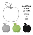 apple icon cartoon singe fruit icon vector image