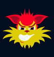 flat icon on theme evil animal coyote vector image