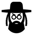 Orthodox jew sign vector image