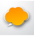Paper orange cloud vector image