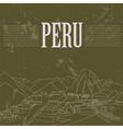 Peru landmarks Retro styled image vector image