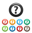 question mark sign icons set vector image