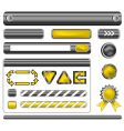 web template elements vector image