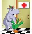Sick animals vector image vector image