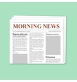 Newspaper journal template vector image