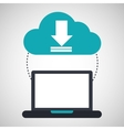 computer cloud download connection network vector image