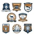 Heraldry icons of wild safari animals vector image vector image