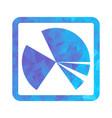 polygon blue icon chart vector image vector image