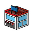store building isometric icon vector image
