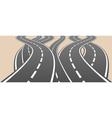 roads overcrossing vector image vector image