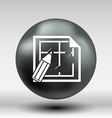 House plan icon button logo symbol concept vector image