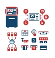 Set color icons of ATM vector image