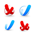 yes and no symbol vector image