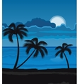 Night summer beach vector image vector image