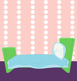 Children cartoon bed in vector image