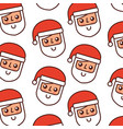 christmas santa claus with red hat seamless vector image