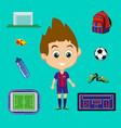 football signs set vector image