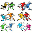football2 vector image