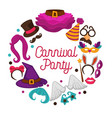 great carnival party advertisement banner with vector image
