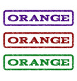 orange watermark stamp vector image
