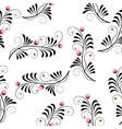 Seamless texture with flowers thistle vector image