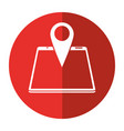 smartphone pin map location gps shadow vector image